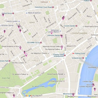 mayfair hotel london attractions map
