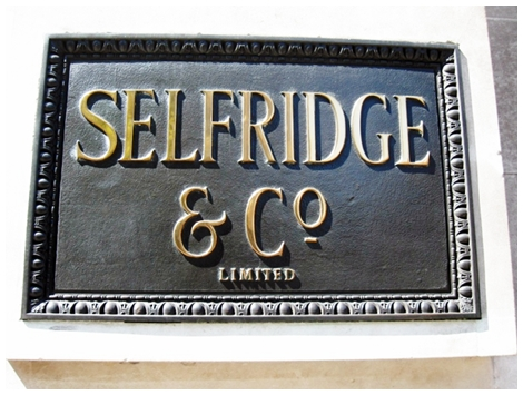 Selfridges Plaque